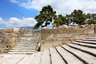 Ancient Phaistos Minoan palace site