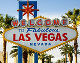 Welcome to Las Vegas Nevada Sign with Palm Trees
