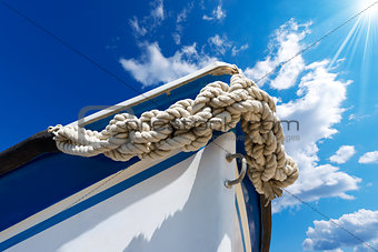 Bow of the Boat on Blue Sky
