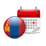 Icon of National Day in Mongolia