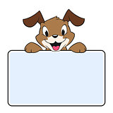 Cartoon Banner Dog