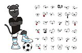 panther soccer cartoon set11
