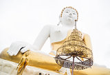 Beautiful buddha image outdoor in chiang mai temple
