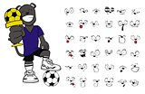 panther soccer cartoon set7