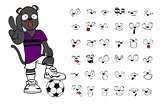 panther soccer cartoon set5