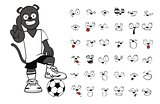 panther soccer cartoon set4