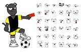 panther soccer cartoon set3