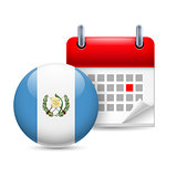Icon of National Day in Guatemala