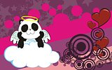 panda bear cherub cartoon background