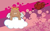 teddy bear cherub cartoon background