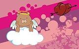 teddy bear cherub cartoon background