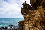 Coastal Cliffs on Koh Larn Beach