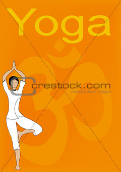 Yoga Tree Pose Poster.