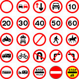 Road Signs - Red Round.