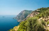 Via Nastro Azzurro, Amalfi Coast. Stunning landscape with hills