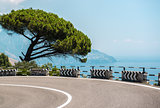 The road along the Amalfi Coast. Italy