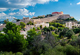 View of the Dalt Vila of Eivissa. Spain