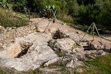 Stone quarrying. Ibiza, Spain