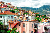 View of Alanya town. Turkey