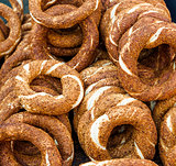 Turkish bagel, also known as simit
