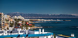 Beautiful view of Benalmadena coast. Malaga, Spain