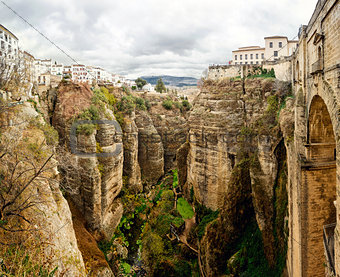 Amazing view of the Ronda canyon