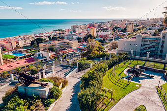 Beautiful view of Torremolinos coast. Malaga, Spain