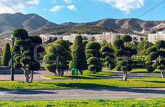 Beautiful Battery Park (Parque La Bateria), Torremolinos. Spain
