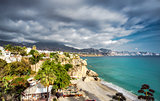 Calahonda beach, located in the centre of Nerja town. Spain
