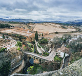 View of Ronda and surrounding countryside