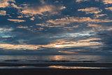 Beautiful sunset above the Atlantic Ocean