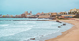 Cadiz coastline in winter. Southwestern Spain