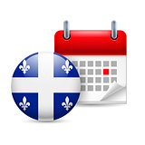 Icon of National Day in Quebec