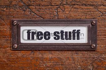 free stuff  - file cabinet label