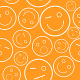 Smile seamless pattern