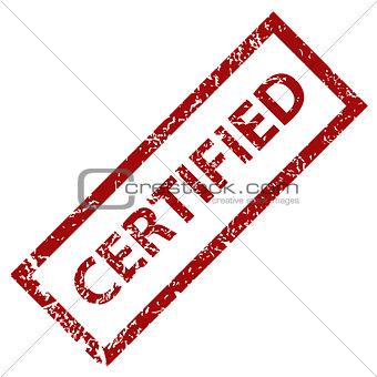 Grunge certified stamp