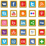 Gold social media icons