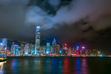 View to Hong Kong from Kowloon at Night.