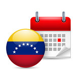 Icon of National Day in Venezuela