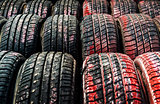 Old tires background
