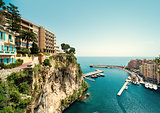View of Fontvieille. Principality of Monaco