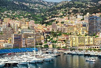 Amazing view of Monaco city
