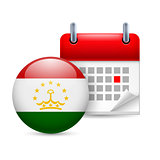 Icon of National Day in Tajikistan