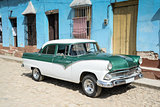 Old retro car on street in Havana Cuba
