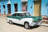 Old retro car on street in Havana Cuba