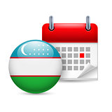 Icon of National Day in Uzbekistan
