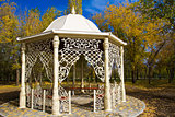 Gazebo in autumn park