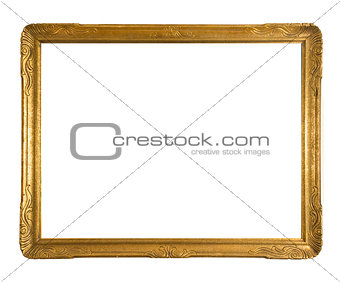 Antique gold ornate picture frame
