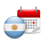 Icon of National Day in Argentina