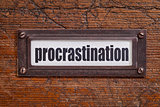 procrastination label